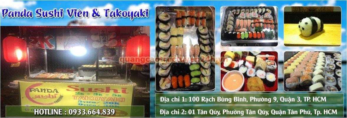 Panda Sushi Viên & Takoyaki - Quán sushi ngon nhất ở q3 TP.HCM