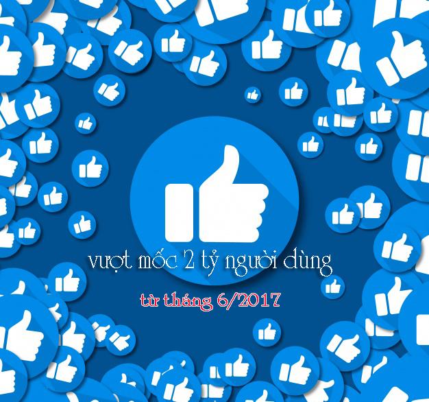 tháng 6 năm 2017, Facebook có 2,01 tỷ người dùng