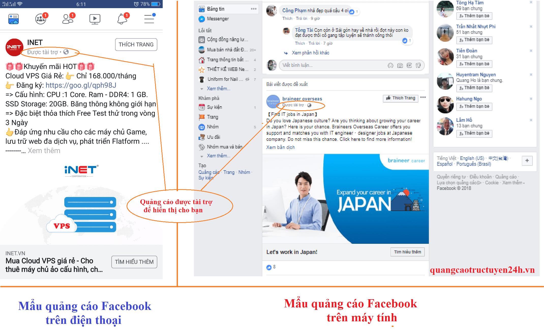 Một mẩu quảng cáo được tài trợ để hiện thị cho bạn