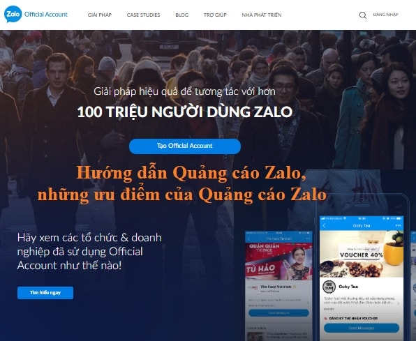 Hướng dẫn Quảng cáo Zalo