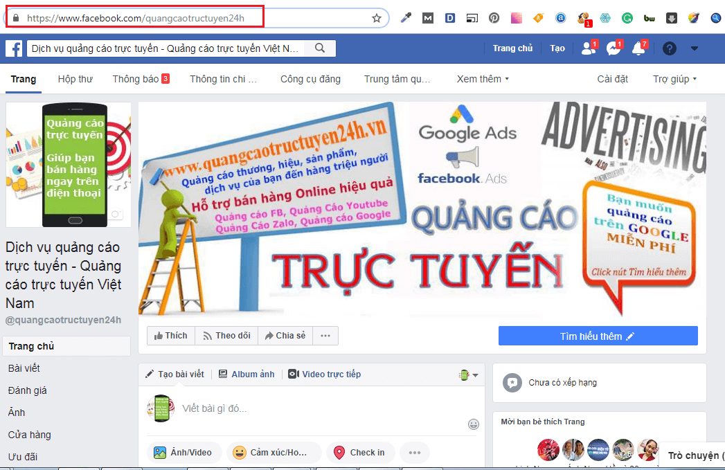 Trang Fanpage sau khi tối ưu