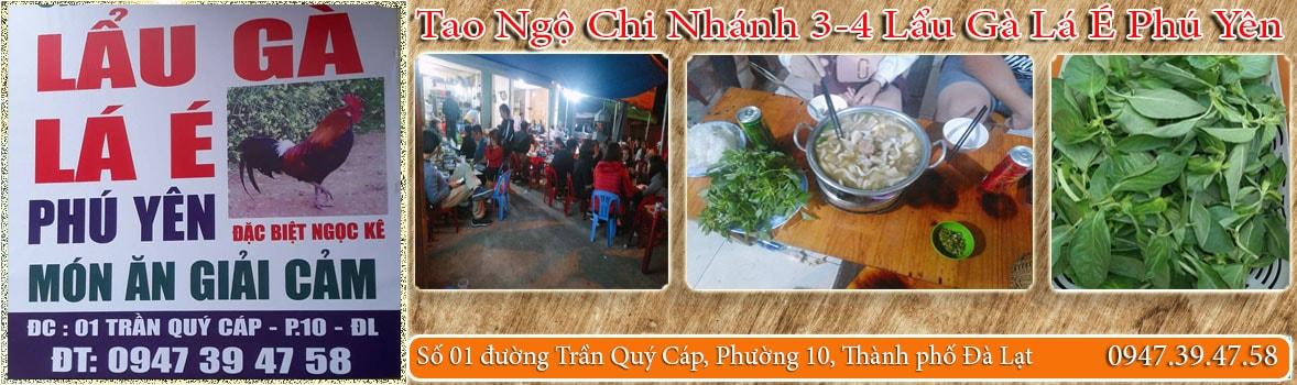 BAnner-Tao Ngộ Chi Nhánh 3-4 Lẩu Gà Lá É Phú Yên