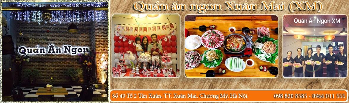 Banner - Quán ăn Ngon Xuân Mai (Quán ăn ngon XM)