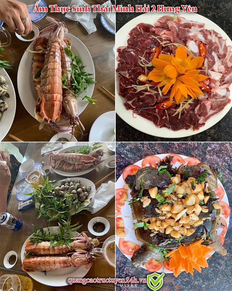 Hình ảnh thực tế các món ăn đặc sản tại Ẩm Thực Sinh Thái Minh Hải 2 Hưng Yên