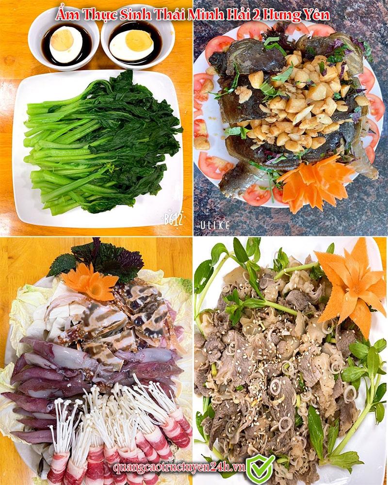 Các món đặc sản tại Ẩm thực sinh thái Minh Hải 2 Hưng Yên