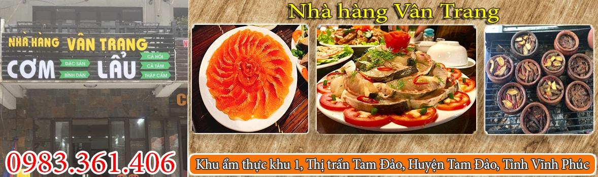 Banner Nhà Hàng Vân Trang Tam Đảo, Vĩnh Phúc