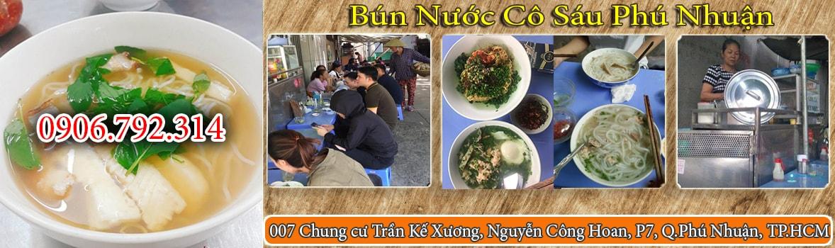 BAnner Quán bún nước cô Sáu Phú Nhuận