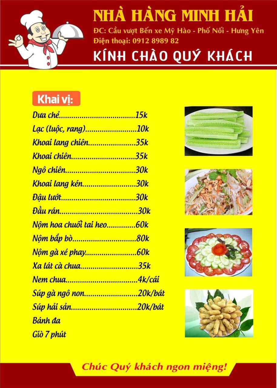 Thực đơn tại nhà hàng Minh Hải - 10