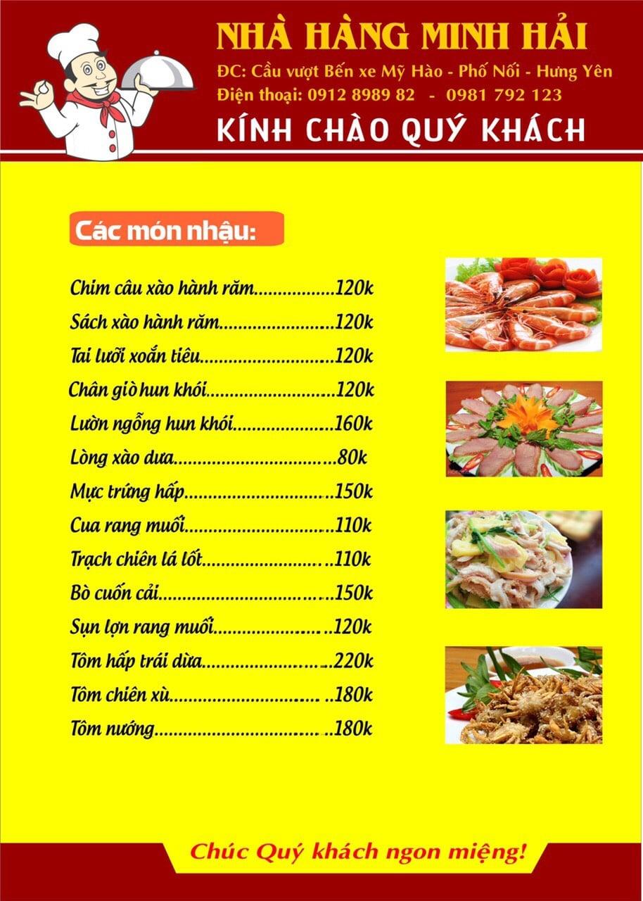Thực đơn tại nhà hàng Minh Hải - 11