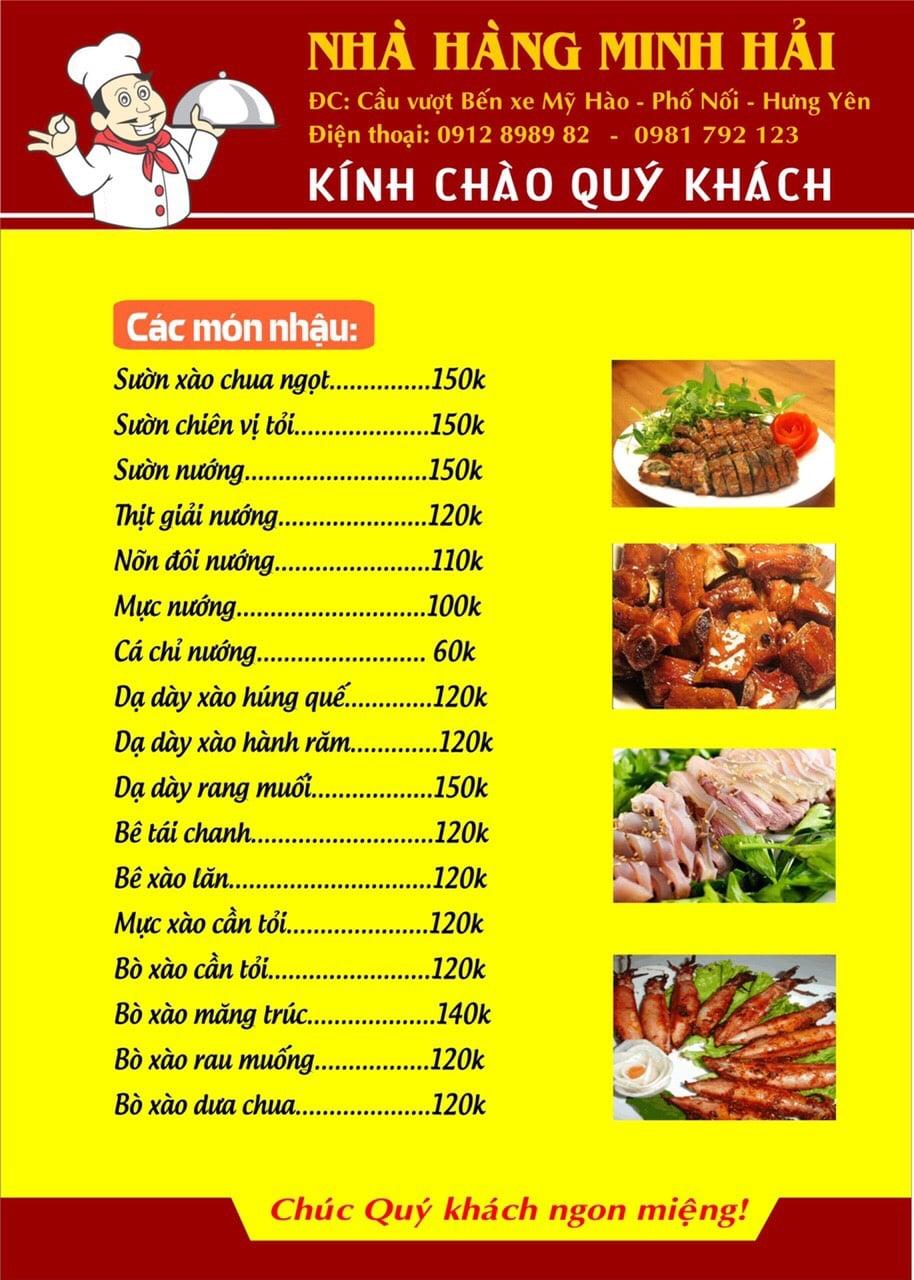 Thực đơn tại nhà hàng Minh Hải - 12