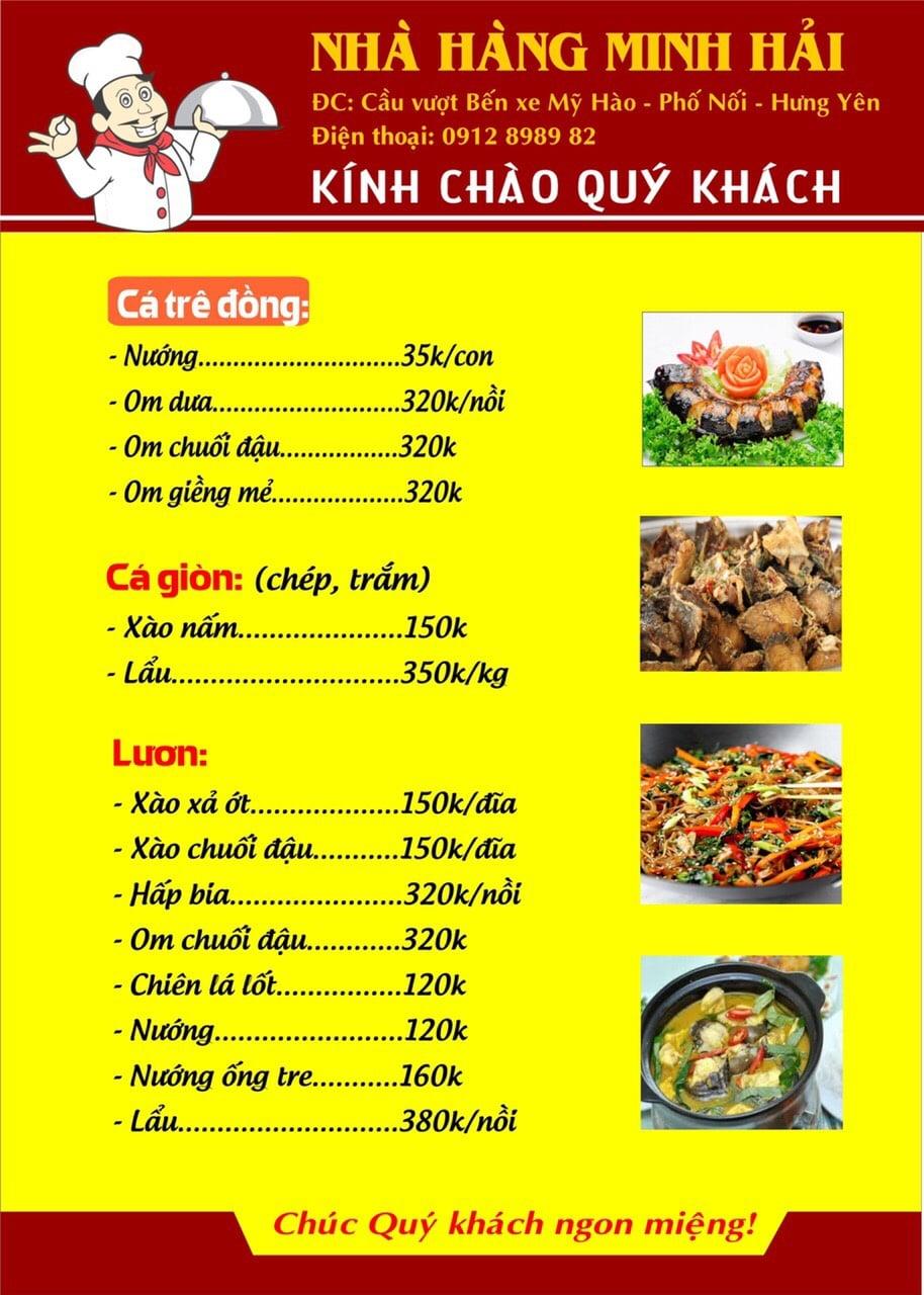 Thực đơn tại nhà hàng Minh Hải - 04