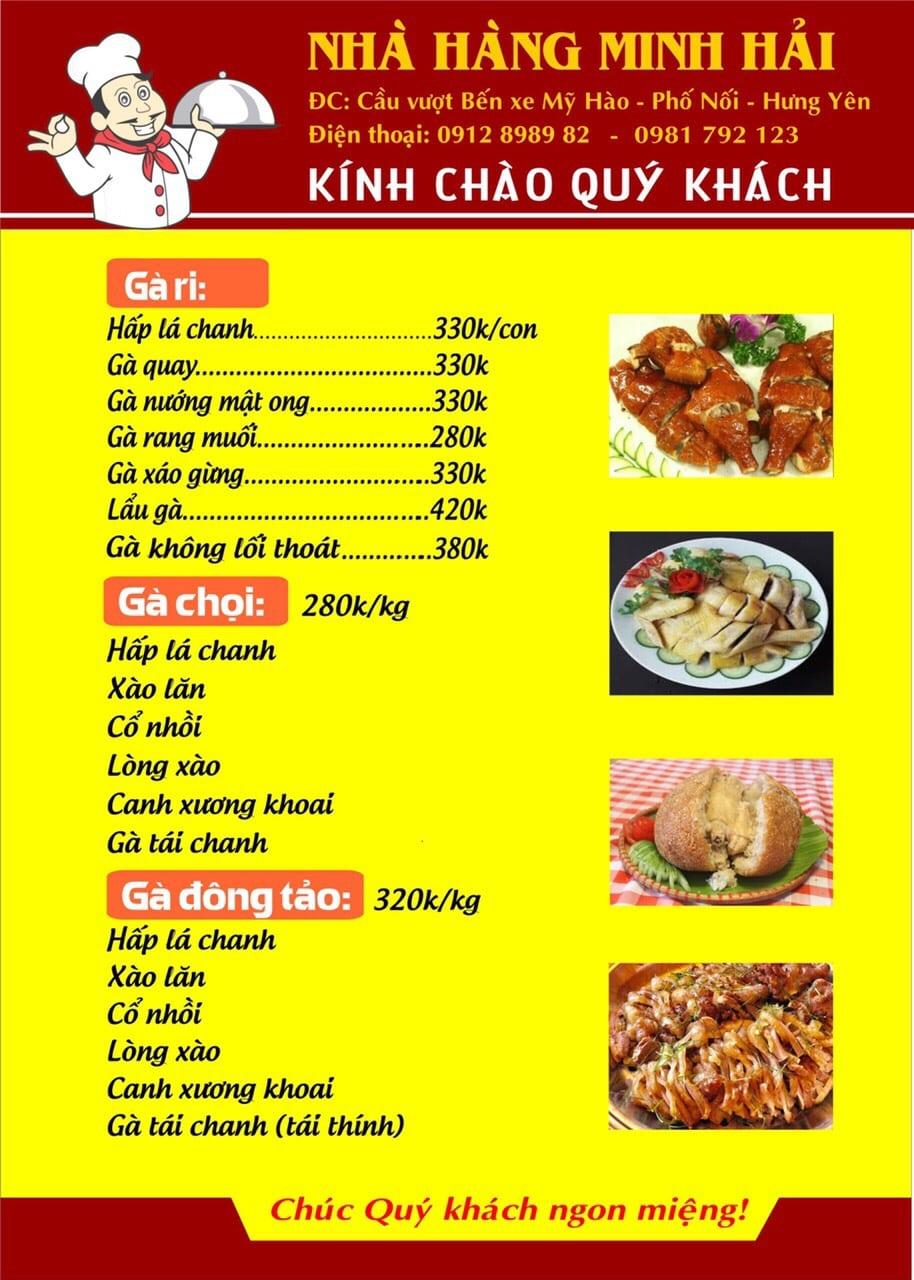 Thực đơn tại nhà hàng Minh Hải - 07