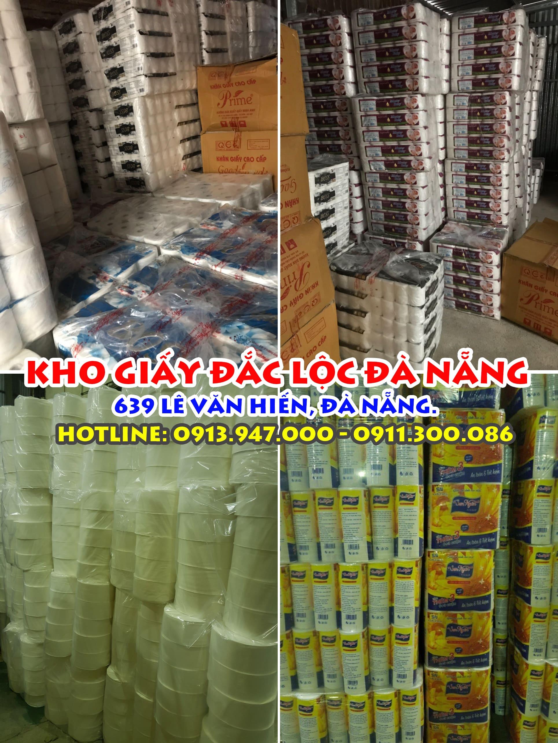 Kho giấy rộng 500m vuông - cung cấp thoải mái cho toàn bộ khách sạn và nhà hàng trên địa bàn Đà Nẵng