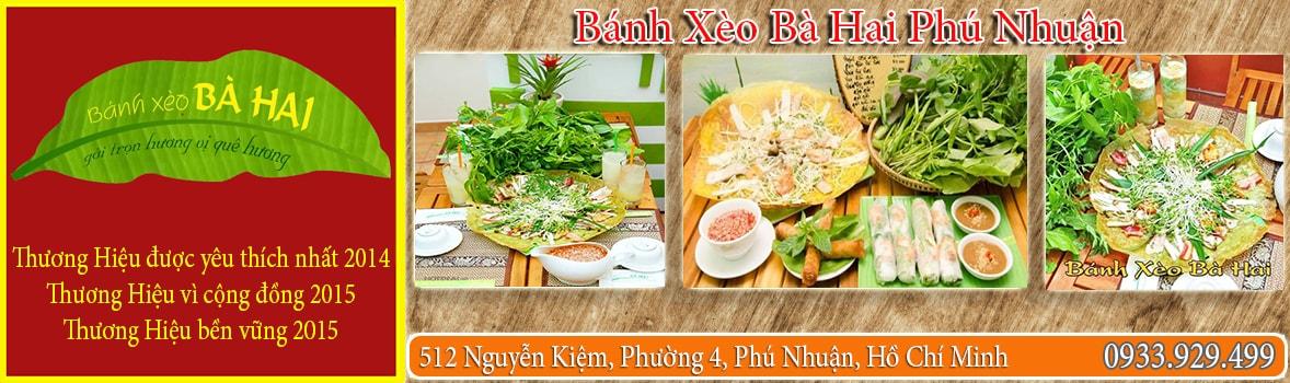 Bánh Xèo Bà Hai Phú Nhuận - Quán bánh xèo ăn ngon tại Quận Phú Nhuận - Quán bánh xèo nổi tiếng tại Phú Nhuận