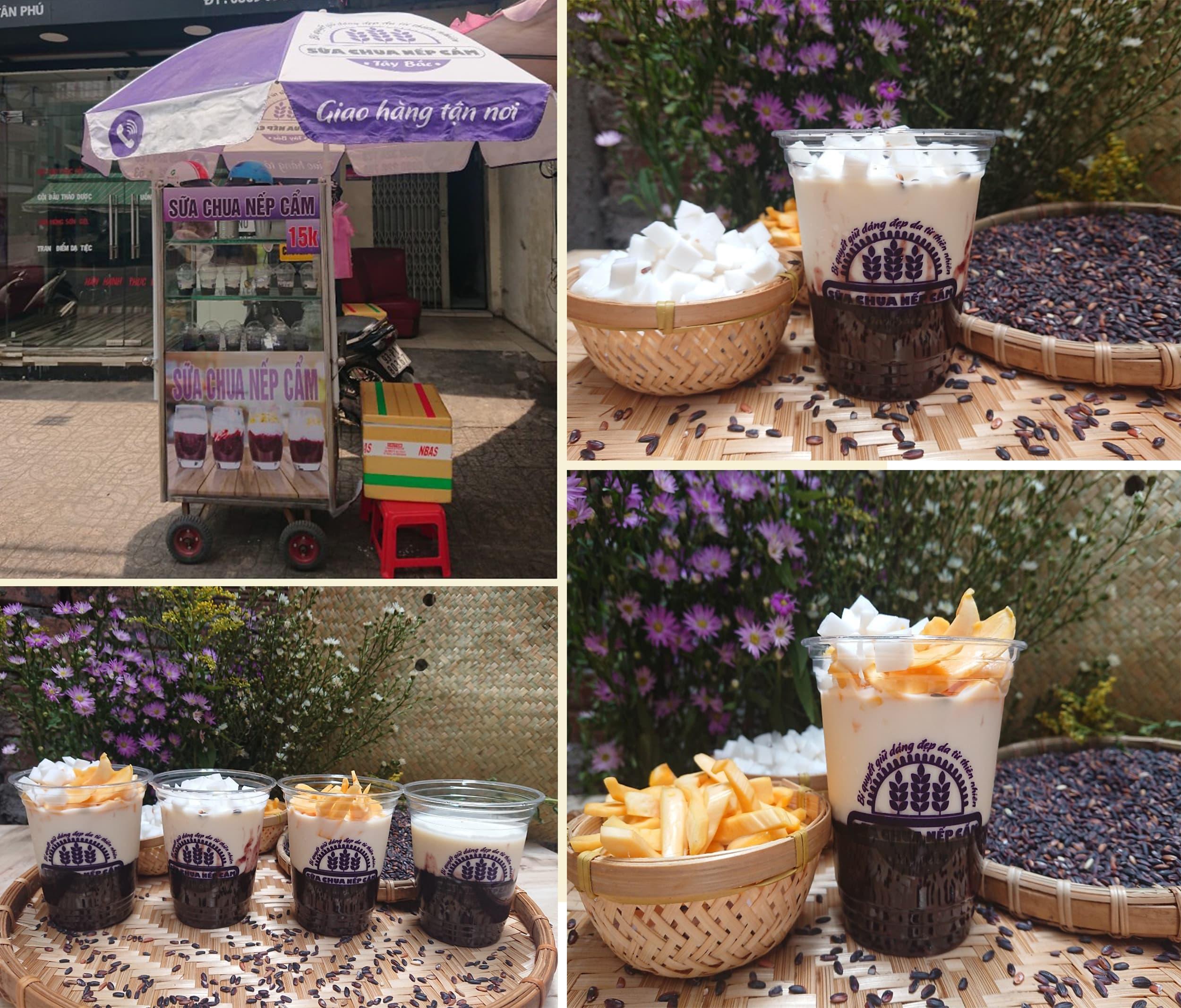 Quán sữa chua nếp cẩm ngon ở Quận Tân Bình - phục vụ theo hình thức take away