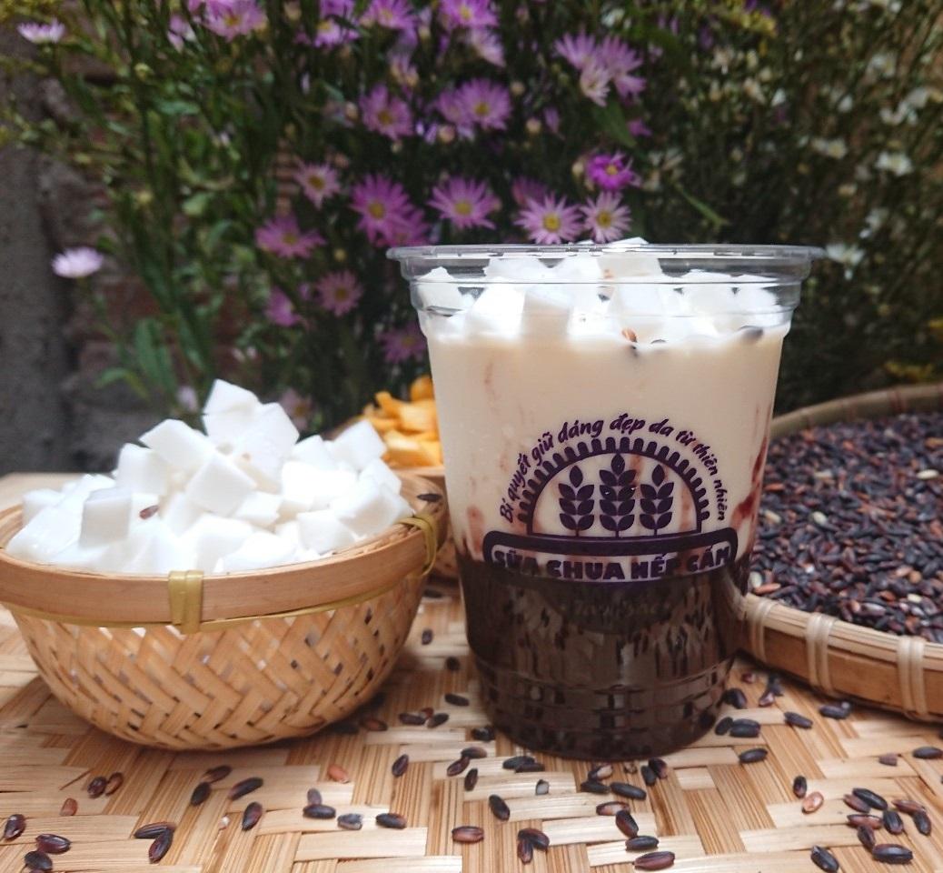 Sữa Chua Nếp Cẩm Dừa Tân Hương