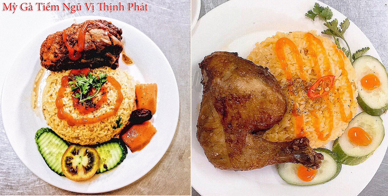 Mỳ Gà Tiềm Ngũ Vị Thịnh Phát - món cơm gà xối mỡ