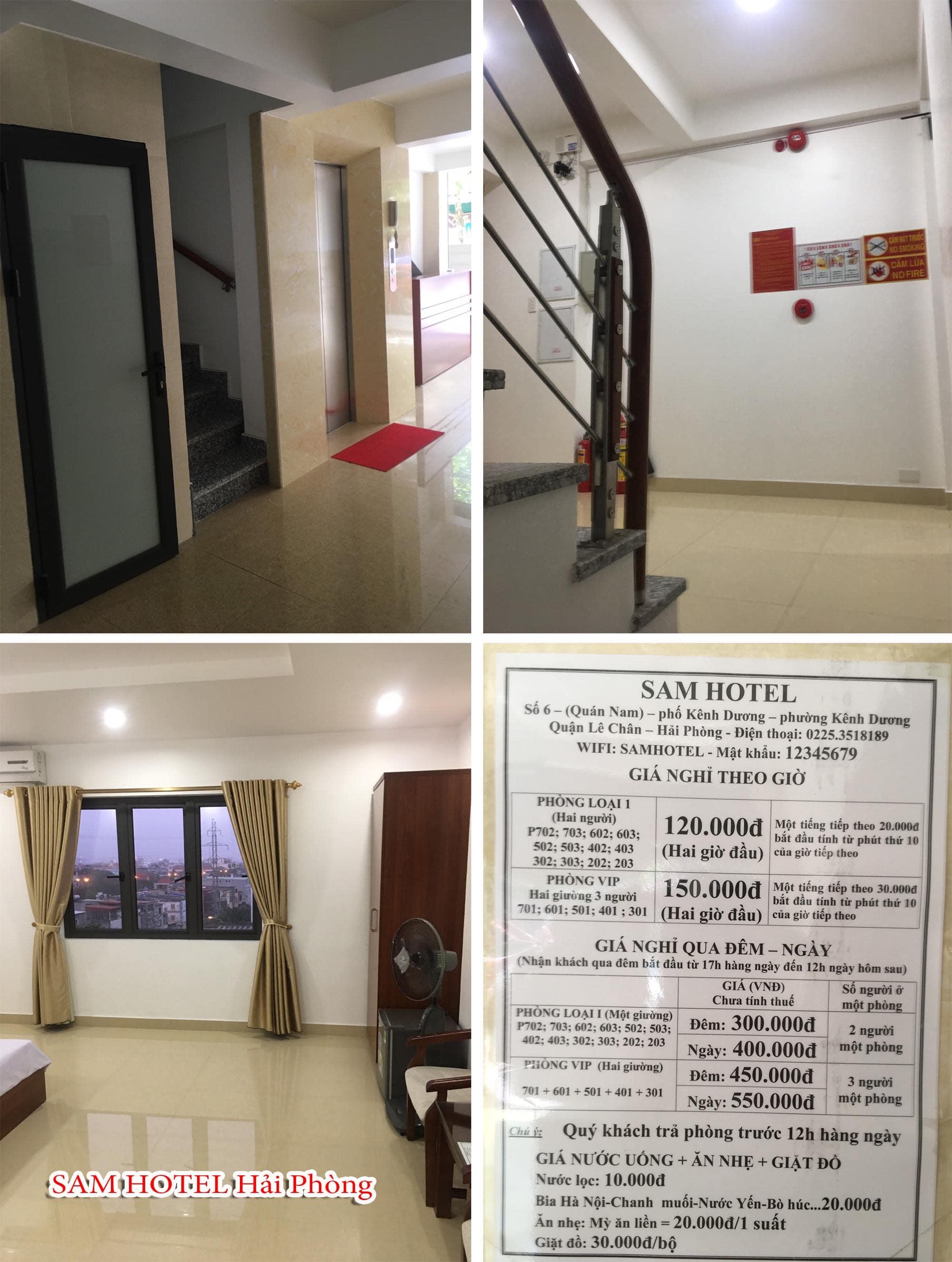 Bảng giá khách sạn Sam Hotel Hải Phòng