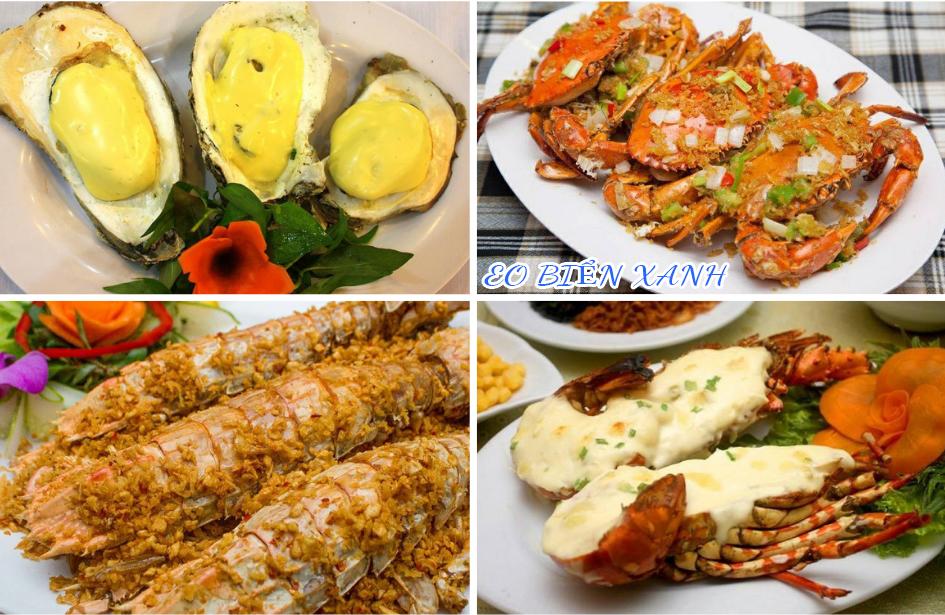 Hình ảnh thực tế các món hải sản