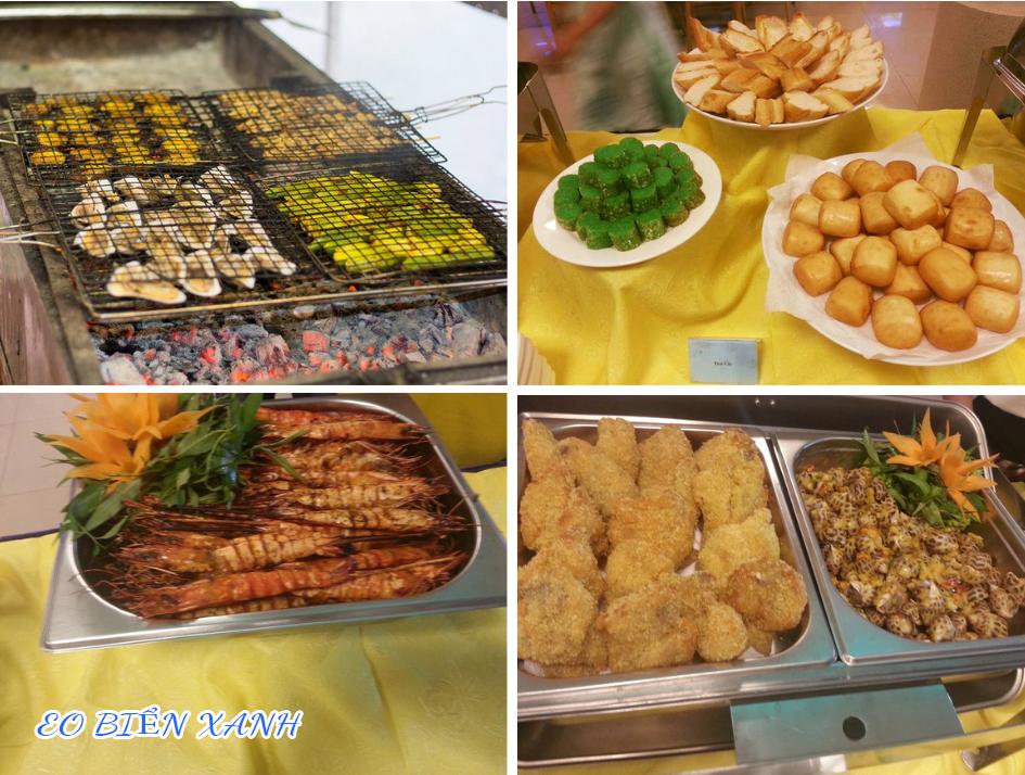 Tại Eo Biển Xanh có đầy đủ những món ăn ngon, bổ dưỡng