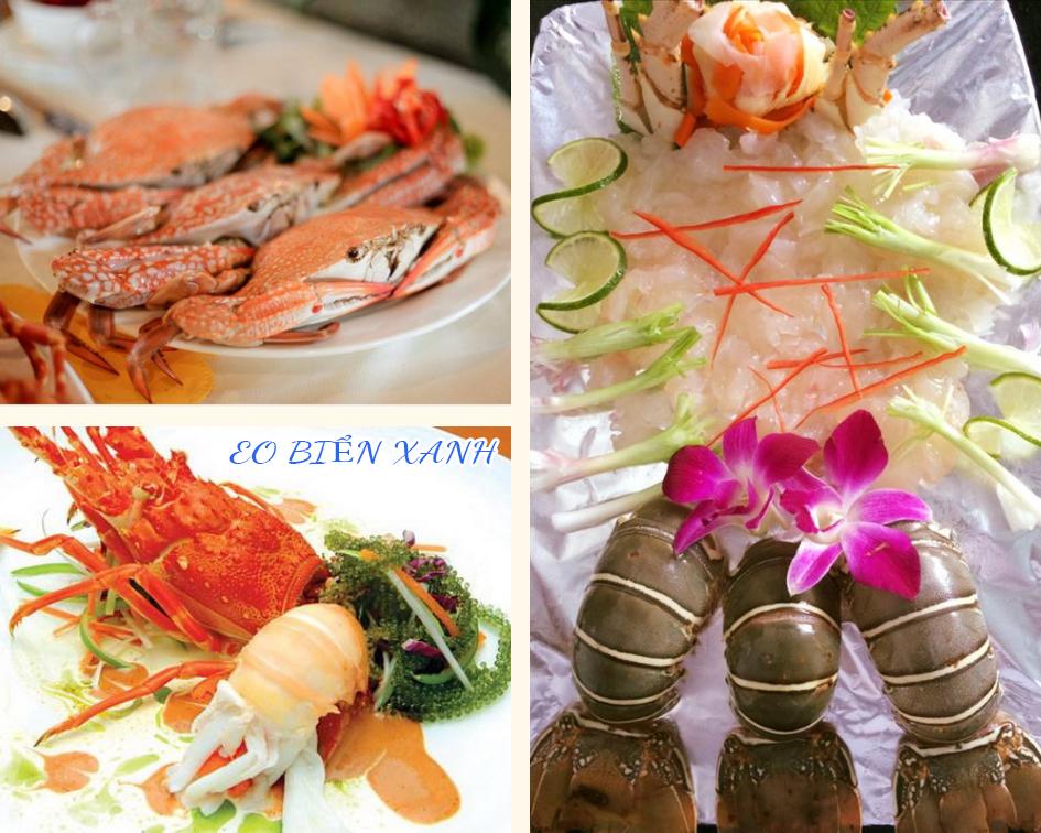 Các món hải sản luôn tươi sống và chất lượng cao