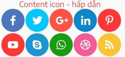 Hình ảnh minh hoạ về content icon hấp dẫn