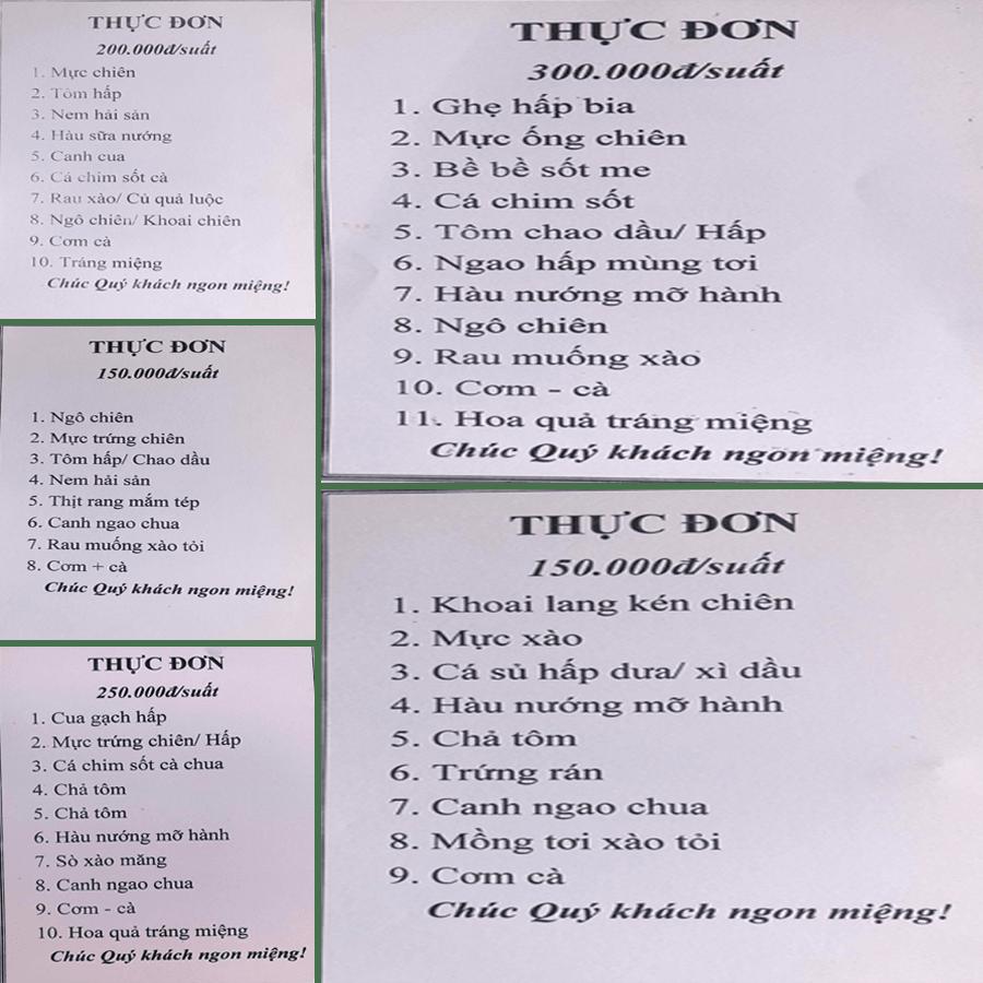 NHÀ HÀNG HẢI SẢN CHÂU LINH - MENU 2