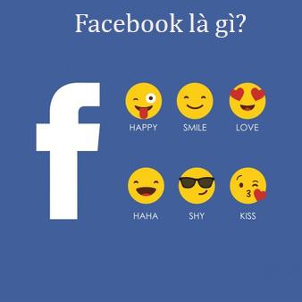 Hình ảnh giới thiệu về facebook và icon hấp dẫn.