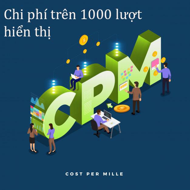 Hình ảnh về chỉ số CPM - chi phí trên 1000 lượt hiển thị