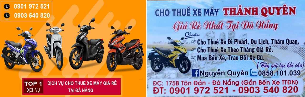 Cửa hàng thuê xe máy uy tín rẻ đà nẵng