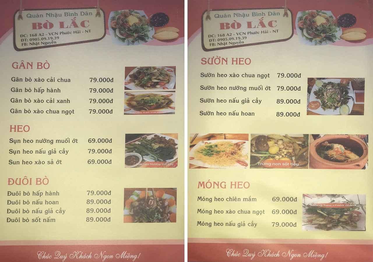 Quán chuyên bò lắc ngon nổi tiếng Nha Trang