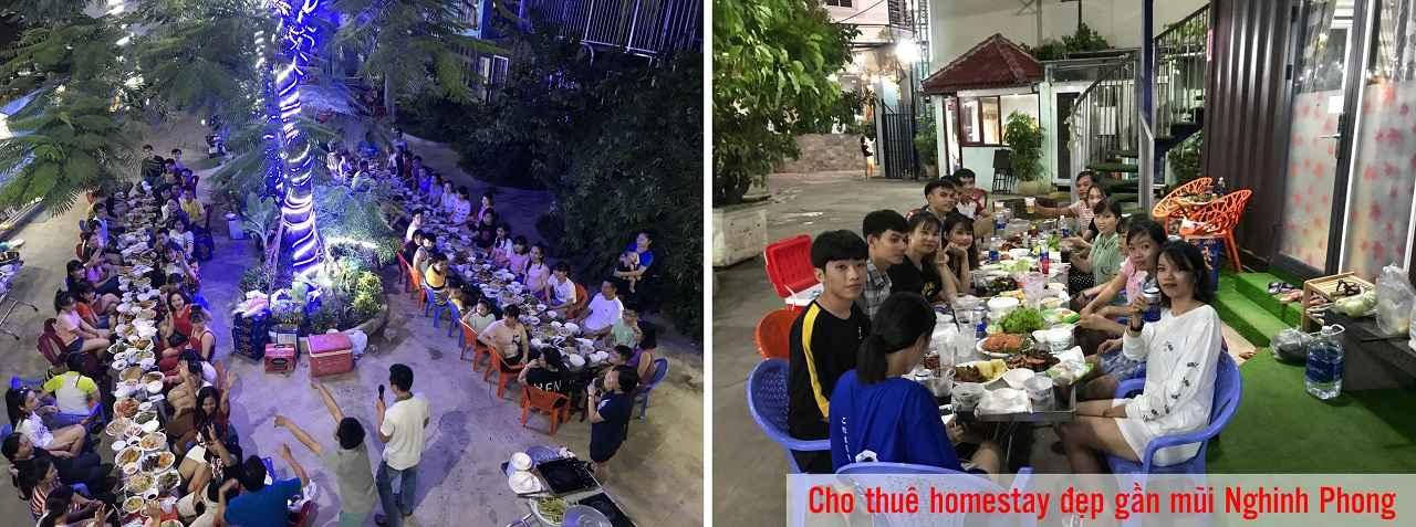 Cho thuê homestay đẹp gần mũi Nghinh Phong