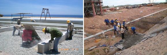 Thi công đường nội bộ dự án nhà máy lọc dầu Dung Quất
