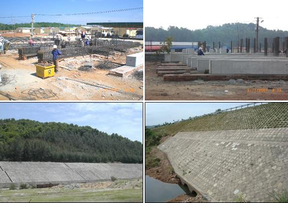 Thi công hệ thống tà vẹt đỡ đường ống dẫn dầu, dự án nhà máy lọc dầu Dung Quất