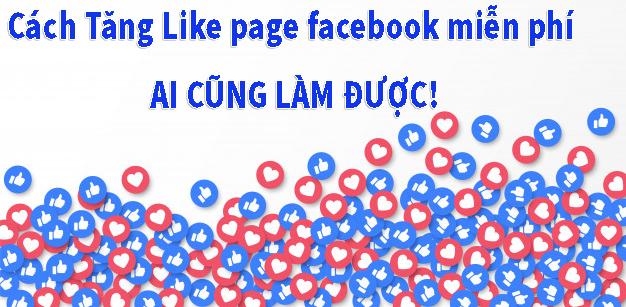 Cách Tăng Like page facebook miễn phí ai cũng làm được