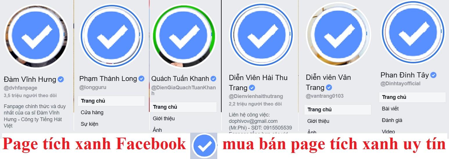 Mua bán page tích xanh – cho thuê page tích xanh uy tín hiệu quả – Mua fanpage tích xanh – Mua tích xanh cá nhân