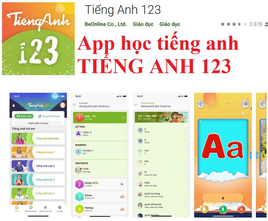 App TIẾNG ANH 123