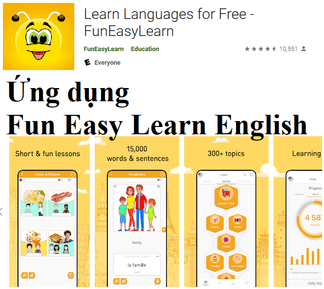 Ứng dụng Fun Easy Learn English