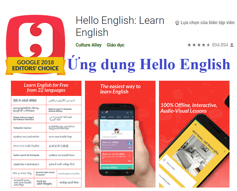 Ứng dụng Hello English