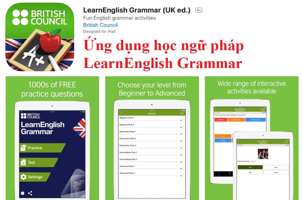 Ứng dụng học ngữ pháp LearnEnglish Grammar