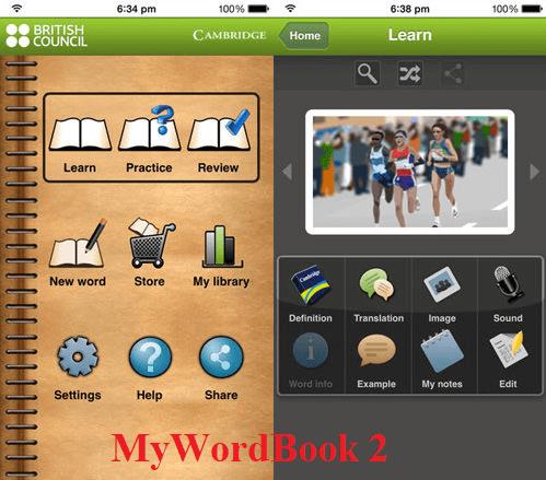 Ứng dụng MyWordBook 2