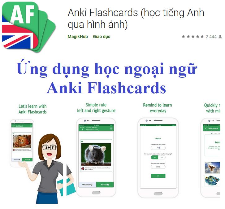 Ứng dụng học ngoại ngữ Anki Flashcards