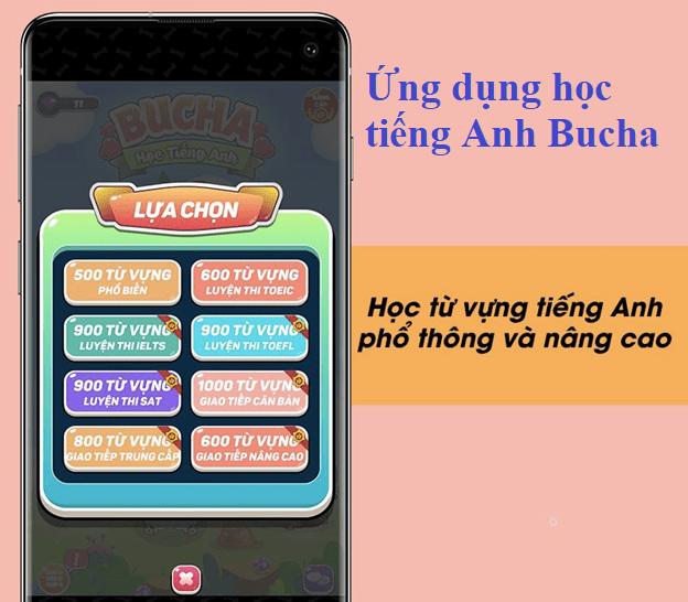 Ứng dụng học tiếng Anh Bucha