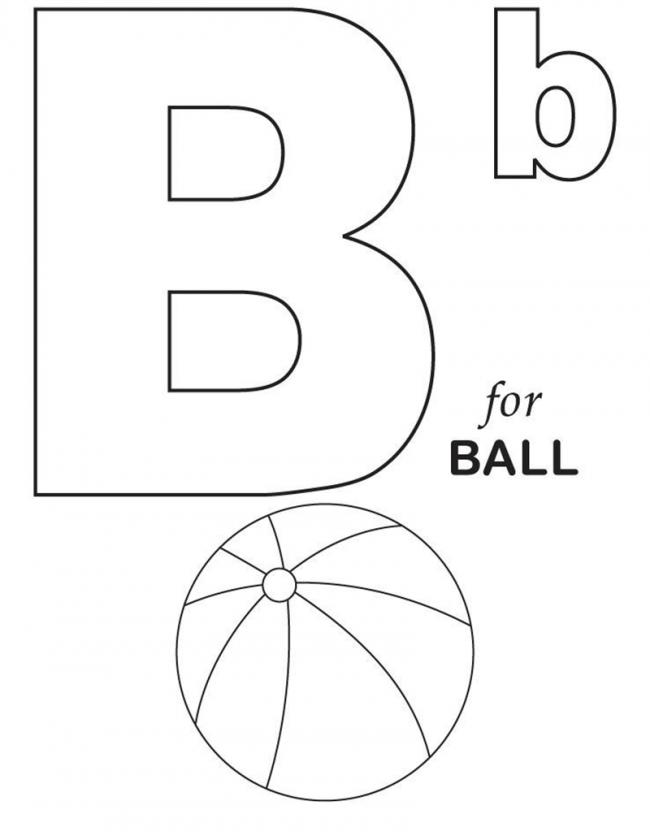 Hình tô màu cho bé - chữ B