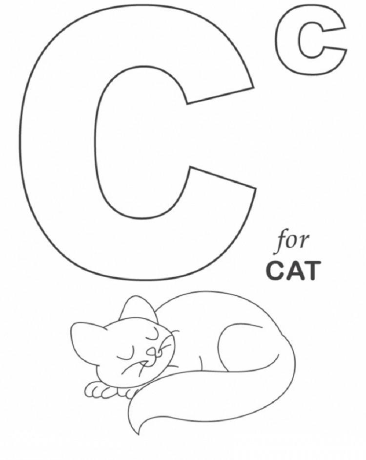 Hình tô màu cho bé - chữ C