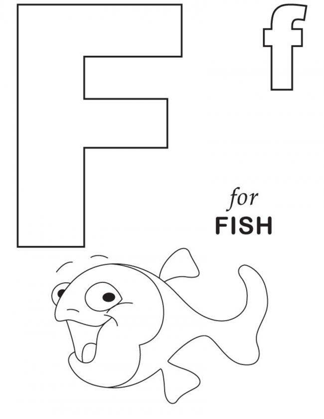 Hình tô màu cho bé - chữ F