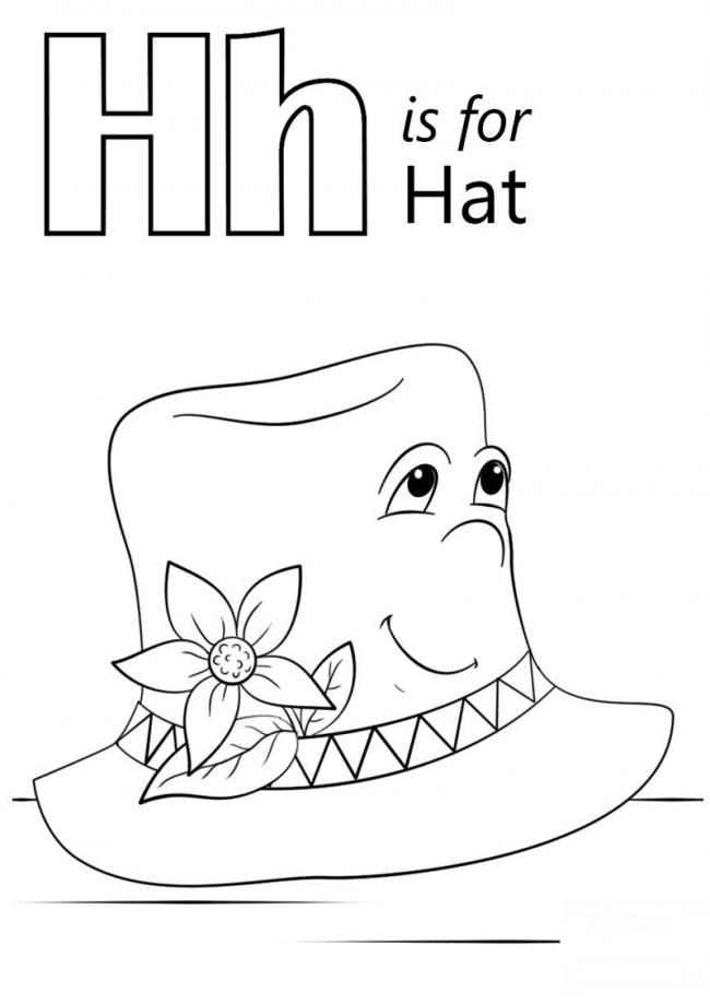 Hình tô màu cho bé - chữ H