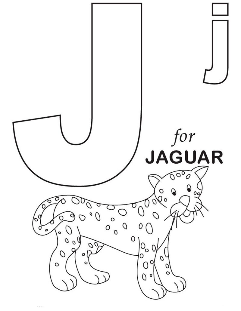 Hình tô màu cho bé - chữ J