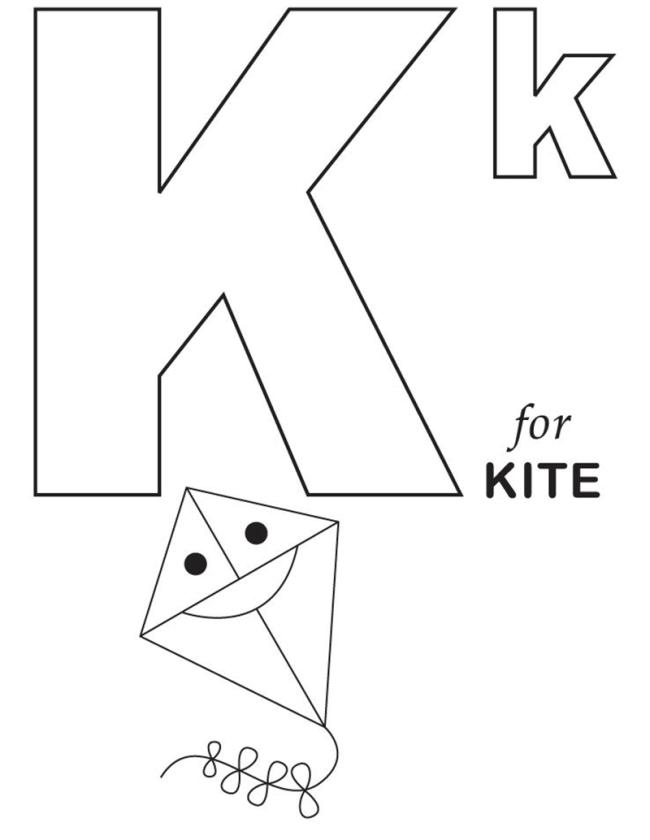 Hình tô màu cho bé - chữ K