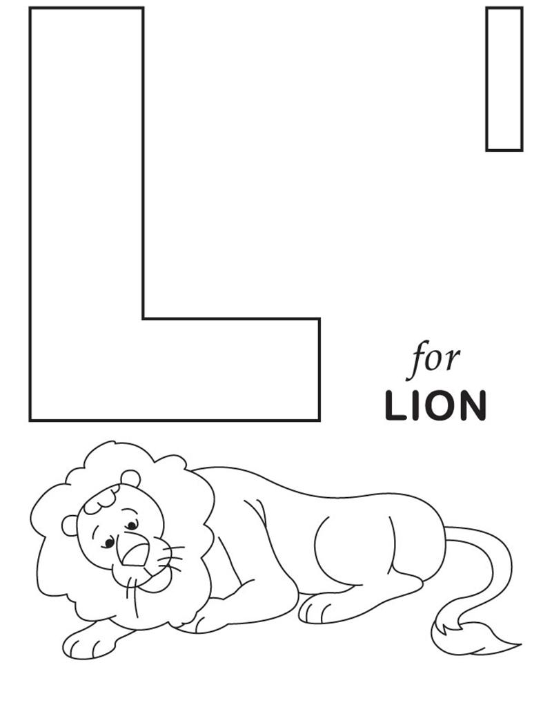 Hình tô màu cho bé - chữ L
